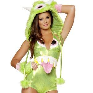 J Valentine JJ174 Green One Eyed Monster Costume